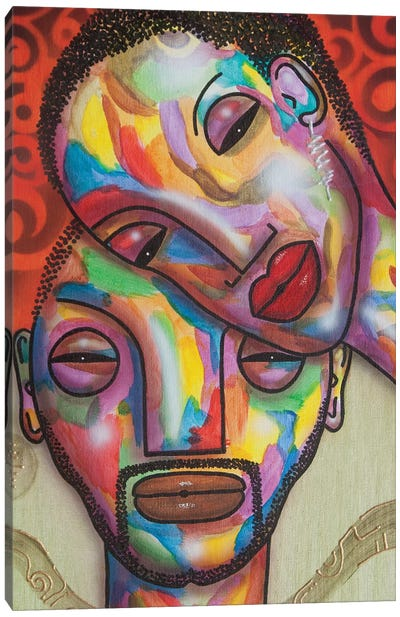 Two Peas In A Pod Canvas Art Print