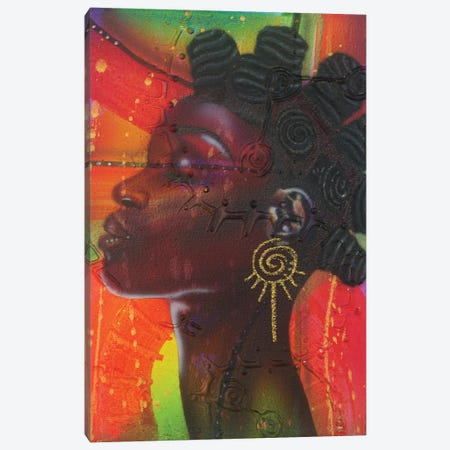 Bantu Knotts Canvas Print #FOD14} by Fred Odle Art Print