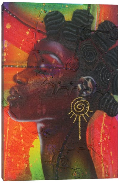 Bantu Knotts Canvas Art Print