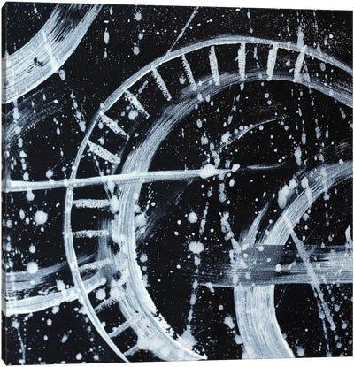 Black White Abstract Canvas Art Print