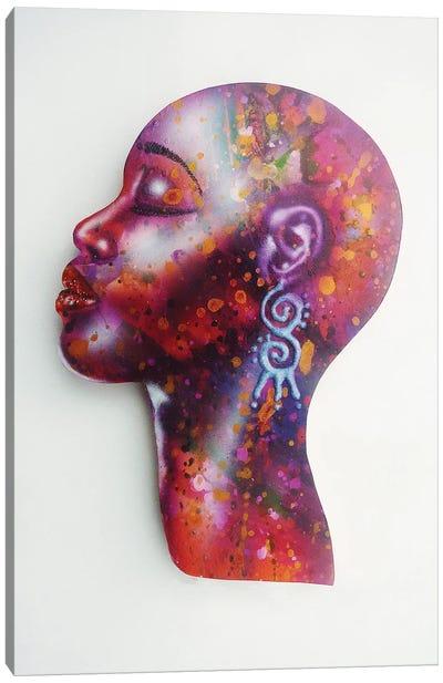 Bald Girl Canvas Art Print