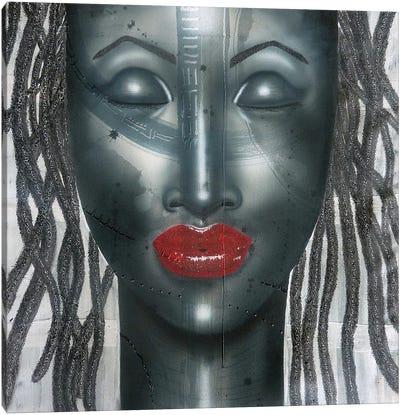 Scarlet & Black Canvas Art Print