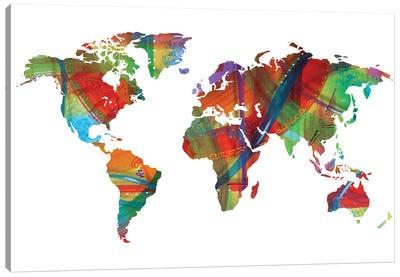 Colorized World Canvas Art Print