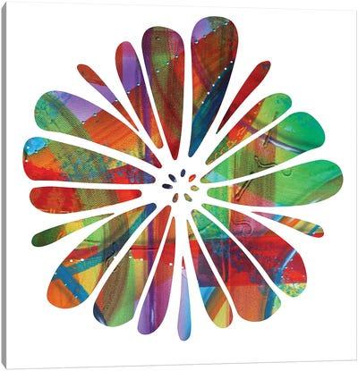 Multi Colour Flower Canvas Art Print