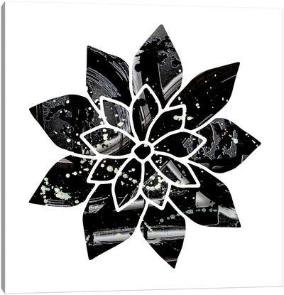 Black And White Flower Canvas Art Print