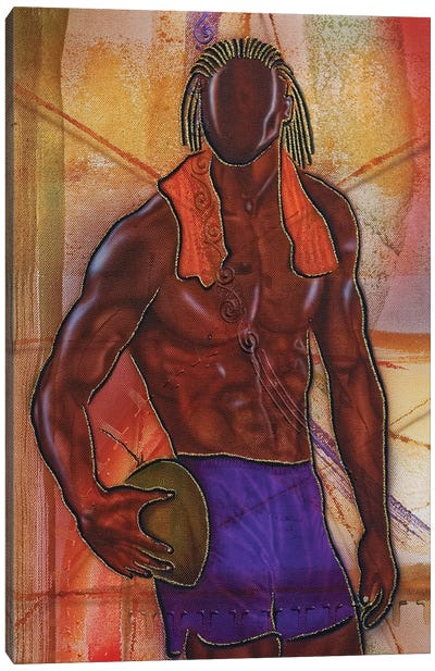 Coconut Man Canvas Art Print