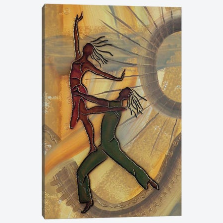 Dancers Canvas Print #FOD24} by Fred Odle Canvas Wall Art