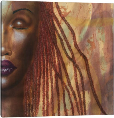 Girl With Red Locs Canvas Art Print