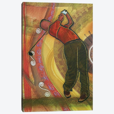 Golfer Canvas Print #FOD35} by Fred Odle Canvas Print