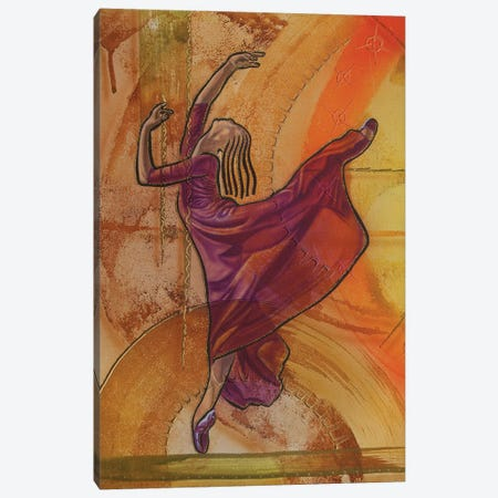 Joy Of Dancing II Canvas Print #FOD47} by Fred Odle Canvas Wall Art
