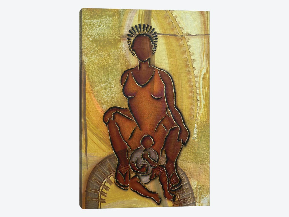 Mother And Child by Fred Odle 1-piece Canvas Artwork