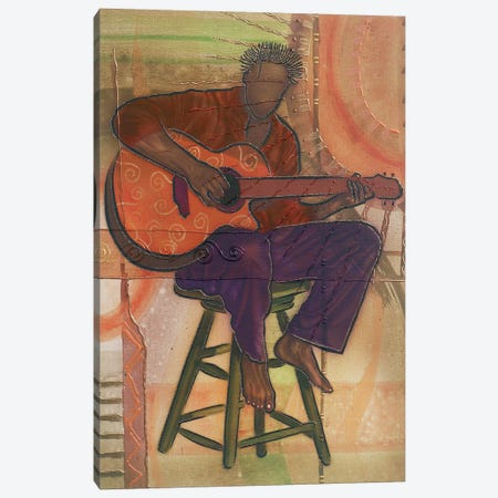 Mr Guitarman Canvas Print #FOD59} by Fred Odle Canvas Wall Art