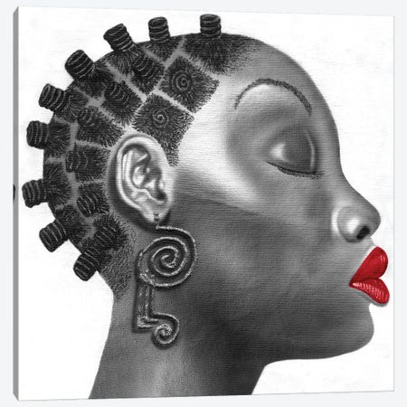 Nubian Girl Canvas Print #FOD62} by Fred Odle Canvas Print