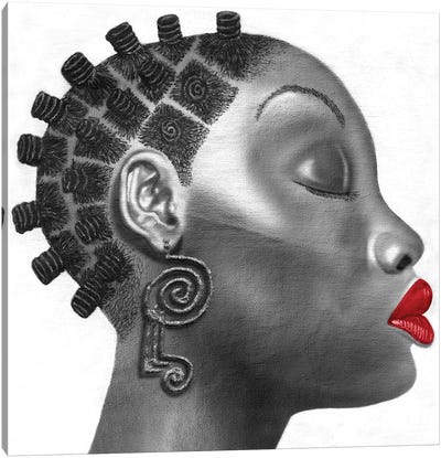 Nubian Girl Canvas Art Print