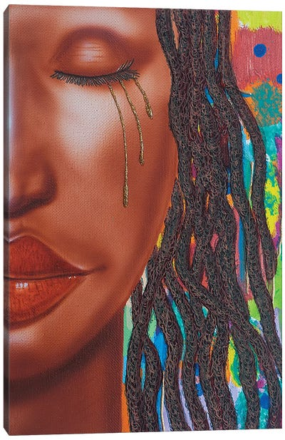 Thandie With Tears Canvas Art Print
