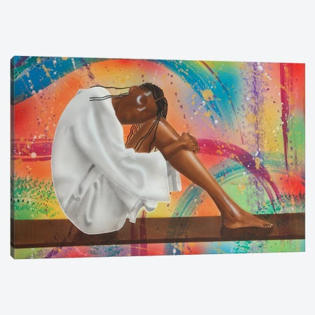 The Thinker Canvas Print #FOD90} by Fred Odle Canvas Wall Art