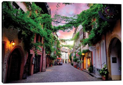 Lost In Germany, Sunset At Freiburg Im Breisgau, Germany Canvas Art Print