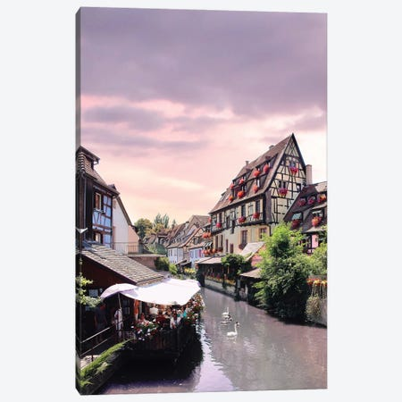 One Lifetime Pink Sunset, Colmar, France Canvas Print #FOL14} by Florian Olbrechts Canvas Art Print
