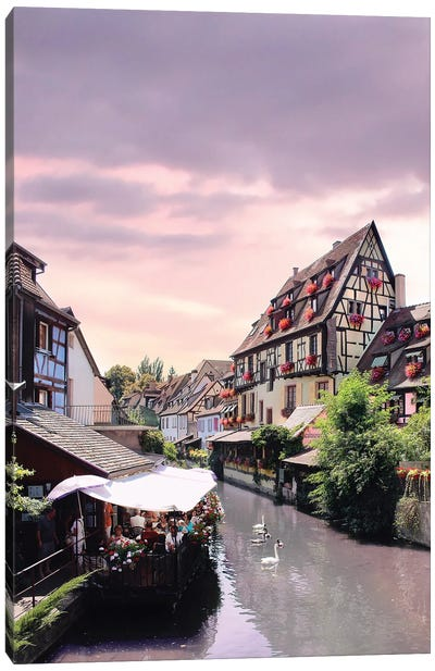 One Lifetime Pink Sunset, Colmar, France Canvas Art Print