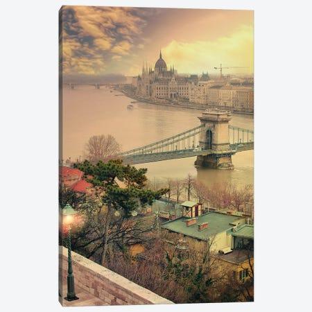 One More Light, Budapest 3-Piece Canvas #FOL15} by Florian Olbrechts Canvas Art Print