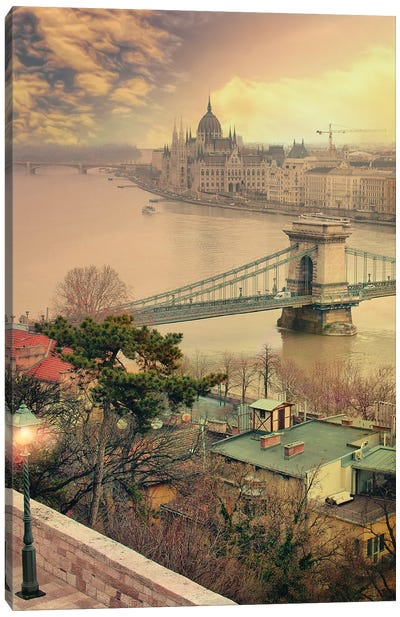 One More Light, Budapest Canvas Art Print