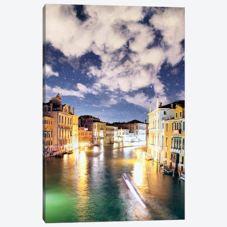 The Night In Venice Reveals Dreamy Skies Canvas Print #FOL21} by Florian Olbrechts Art Print
