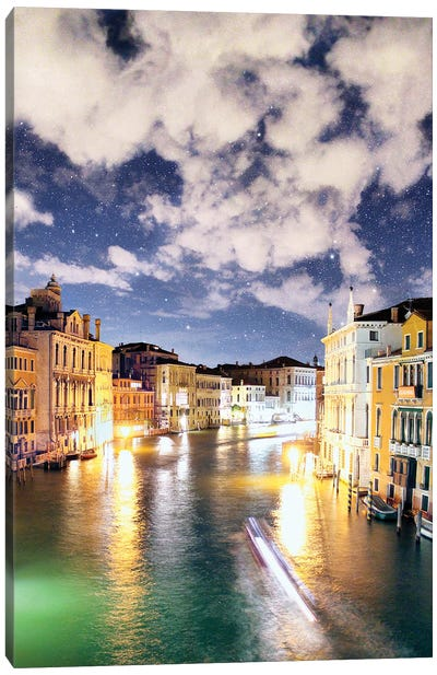 The Night In Venice Reveals Dreamy Skies Canvas Art Print