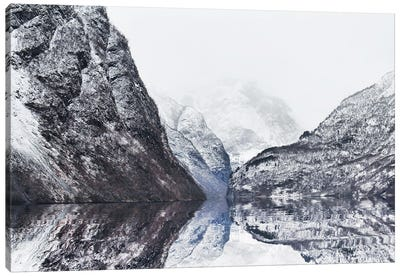 The Perfect Narturals Reflections Of Gudvangen Fjord In Norway Canvas Art Print