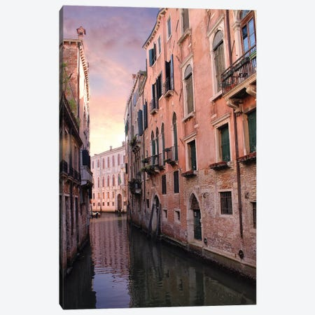 Venice Canal Canvas Print #FOL25} by Florian Olbrechts Canvas Artwork