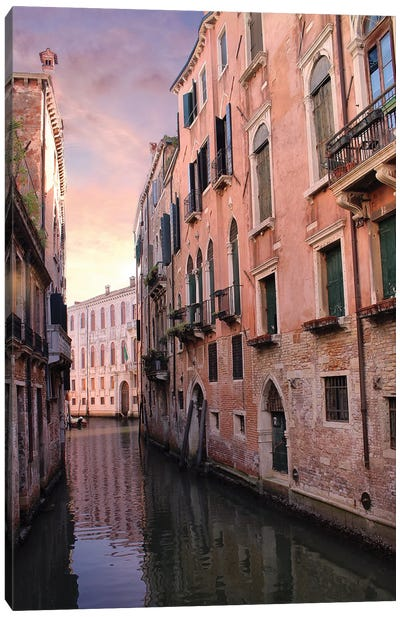 Venice Canal Canvas Art Print