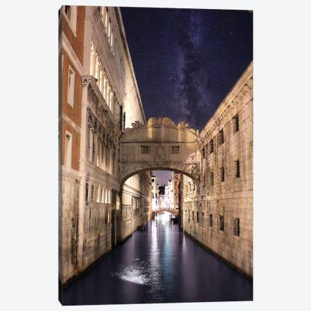 Venice Summer Night, Ponte Dei Sospiri Canvas Print #FOL26} by Florian Olbrechts Canvas Wall Art