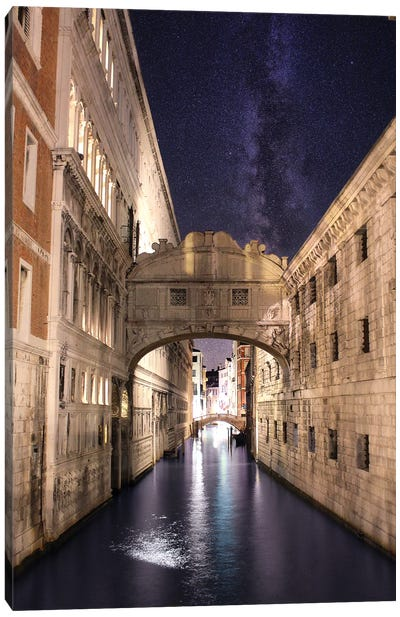Venice Summer Night, Ponte Dei Sospiri Canvas Art Print