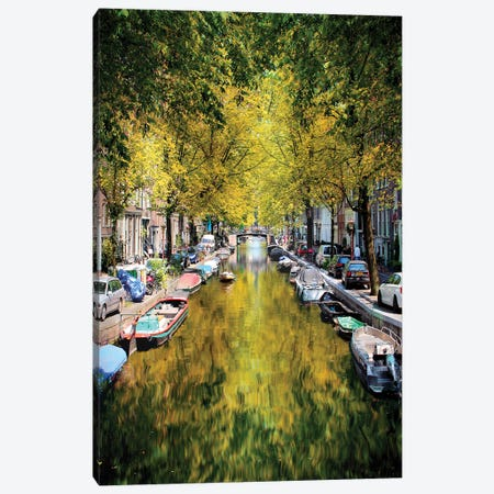 Weight Anchor In A Tree Tunnel, Amsterdam Canvas Print #FOL27} by Florian Olbrechts Canvas Wall Art