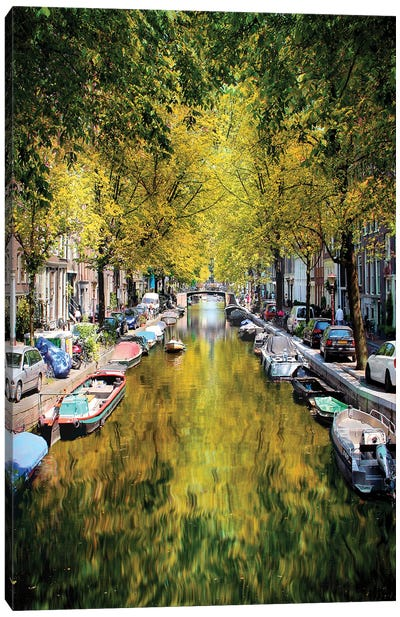 Weight Anchor In A Tree Tunnel, Amsterdam Canvas Art Print
