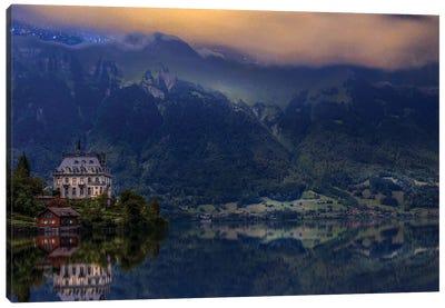 Iseltwald Beauty By Night Canvas Art Print