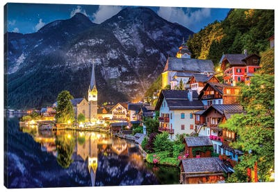 The Small Magical Village Lost In The Mountains Canvas Art Print