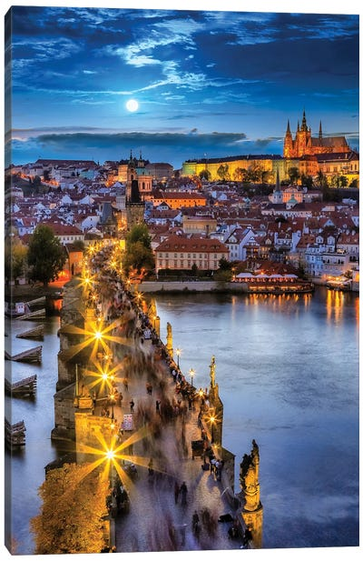 Prague Night Canvas Art Print