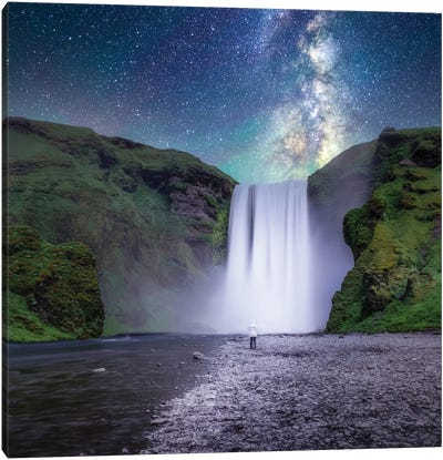 Long Exposure Shot In Iceland Canvas Art Print