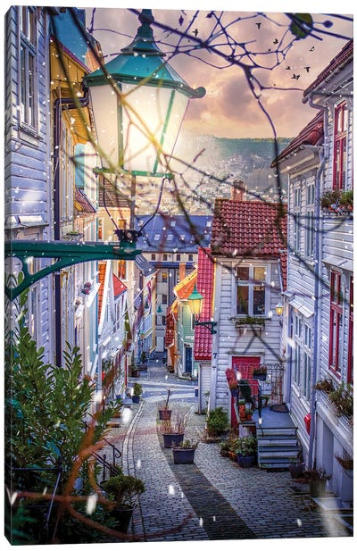 Bergen, Norway Canvas Art Print