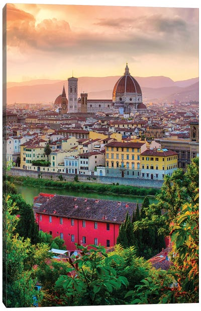 Firenze, Italia Portrait Canvas Art Print