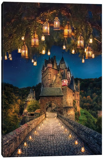 Burg Eltz Portrait Canvas Art Print