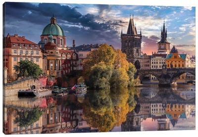 Prague Reflections Canvas Art Print
