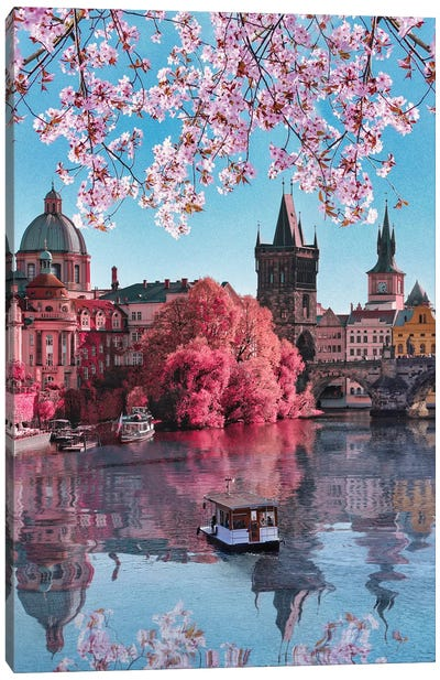 Spring In Prague Canvas Art Print