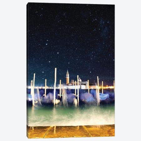Gondolas Never Sleep In Venice Canvas Print #FOL7} by Florian Olbrechts Canvas Art Print