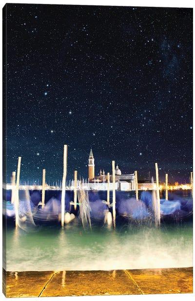 Gondolas Never Sleep In Venice Canvas Art Print