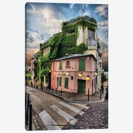 La Maison Rose, Montmatre, Paris Canvas Print #FOL8} by Florian Olbrechts Canvas Wall Art