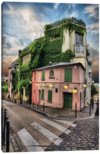 La Maison Rose, Montmatre, Paris Canvas Art Print