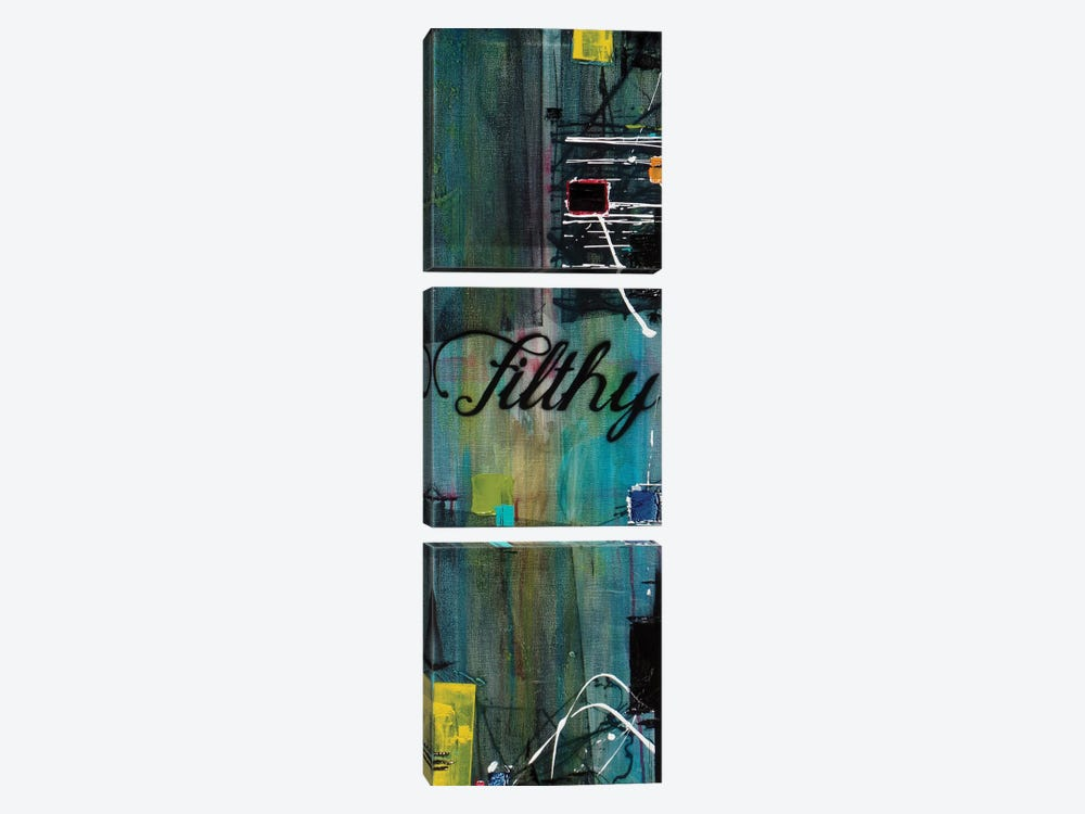 Filthy by Jason Forcier 3-piece Canvas Wall Art