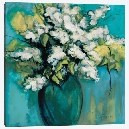 White Lilac Waltz Canvas Print #FOU5} by Joyce Fournier Art Print