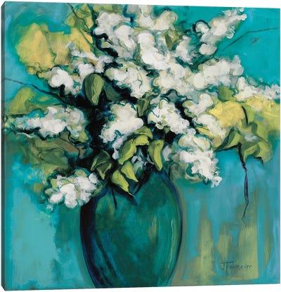 White Lilac Waltz Canvas Art Print